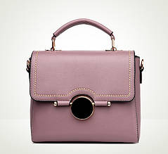 Женская сумка стильная среднего размера фиолетовая