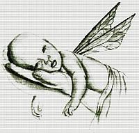 Набор для вышивания крестиком Младенец. Размер: 29*28 см