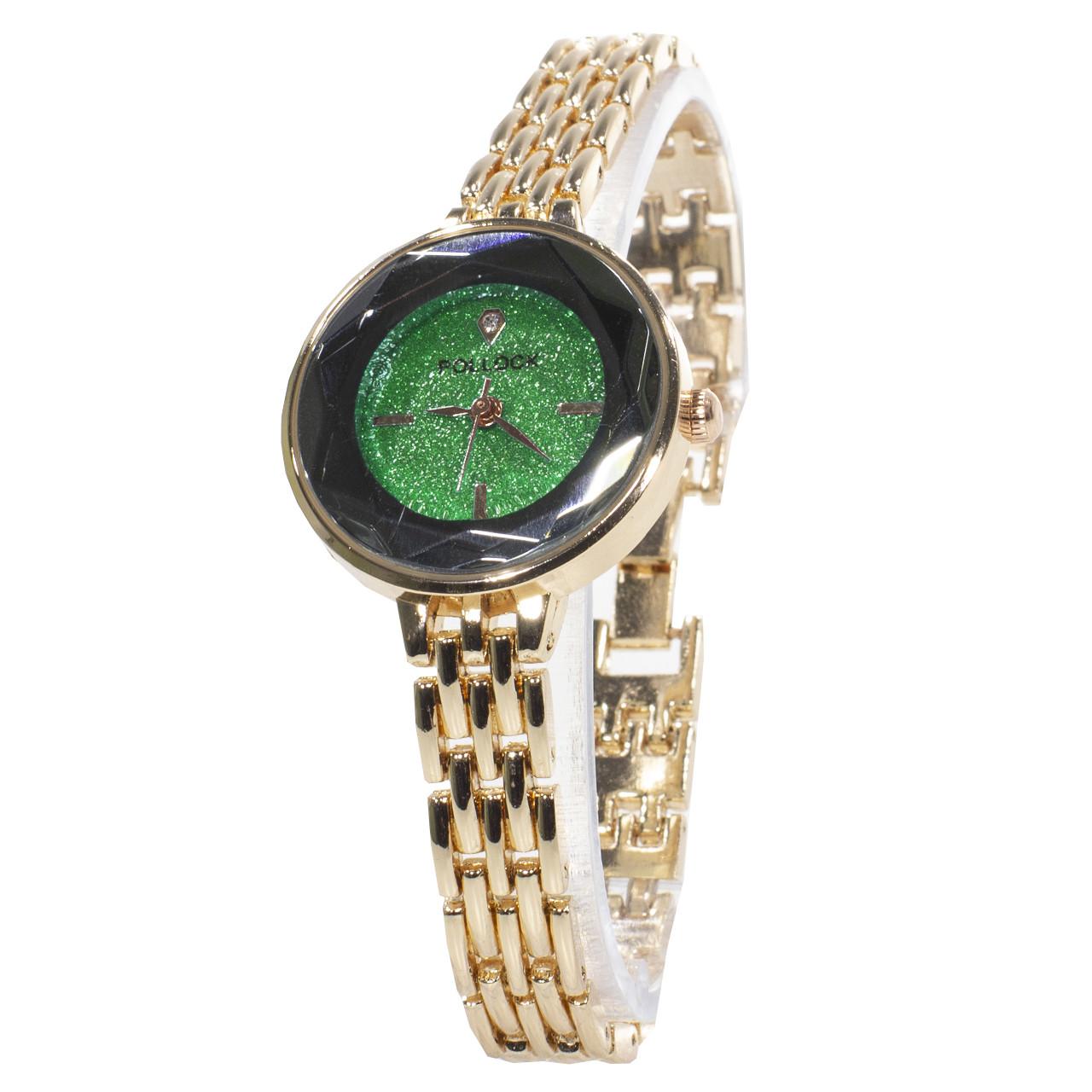 ➀Классические женские часы Pollock Jewel Green кварцевые наручные стальные для женщин девушек