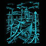 Барельеф Венеция Причал светящийся Гранд Презент КР 907 камень светит, фото 6