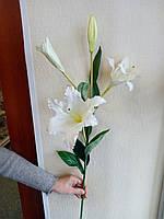 Цветы искусственные Лилия белая (2 цветка +2 бутона)