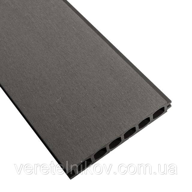 Террасная доска HOLZDORF 153×24,5х3000 мм, Браш, Графит