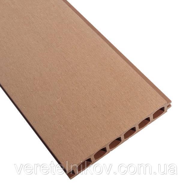 Террасная доска HOLZDORF 153×24,5х3000 мм, Браш, Шоколад