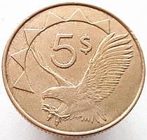 Намибия 5 долларов 2012