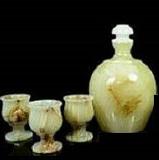 Набор графин плюс 3 рюмки,  натуральный камень оникс, Днепропетровск