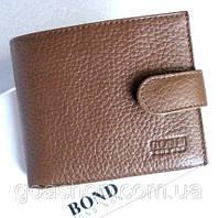 Мужской кошелёк кожаный. Bond. Мужской кожаный бумажник. Мужские кошельки. Стильный. Модный кошелёк.