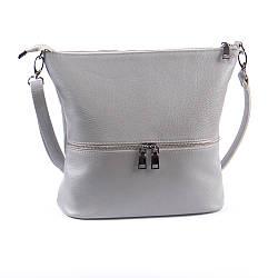 Женская кожаная сумочка-кроссбоди 42 серый флотар 01420114