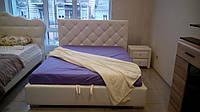 Кровать двуспальная Люкс НЬЮ-ЙОРК без матраса с ящиком для белья (ромбы)