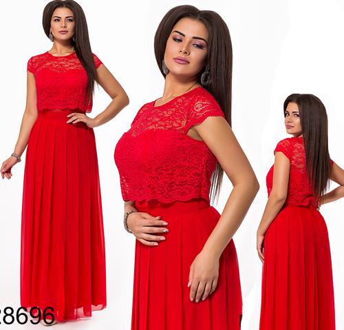 accf34a52ff Купить Вечернее красное длинное платье с шифоном 828696 недорого в ...