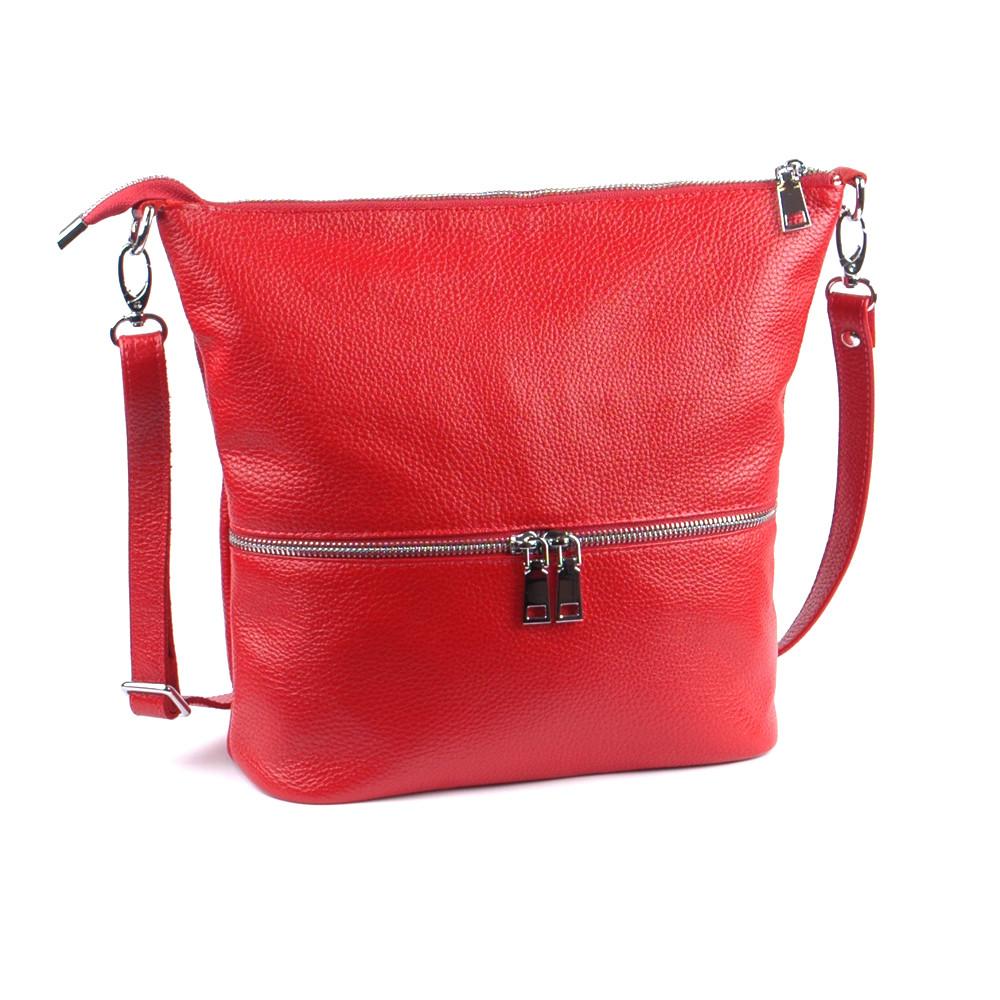 Женская сумочка кожаная 42 красный флотар 01420107