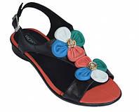 Босоножки женские кожаные на каблуке