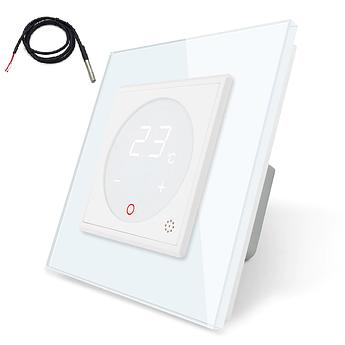 Терморегулятор сенсорный Livolo для электрического теплого пола с датчиком белый (VL-C701TM2-11)