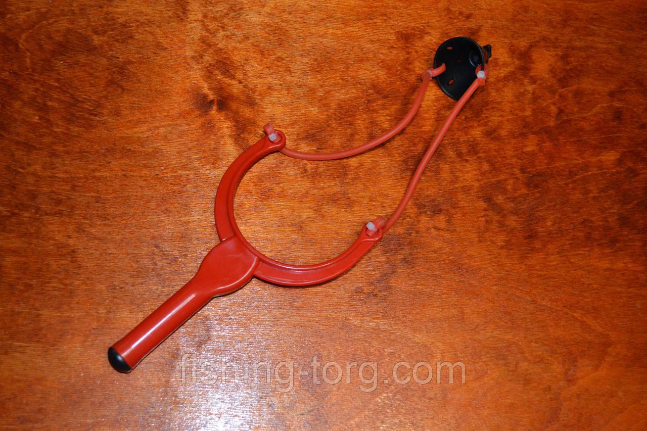 Рогатка закормочная средняя пластиковая дальность стрельбы 15 метров