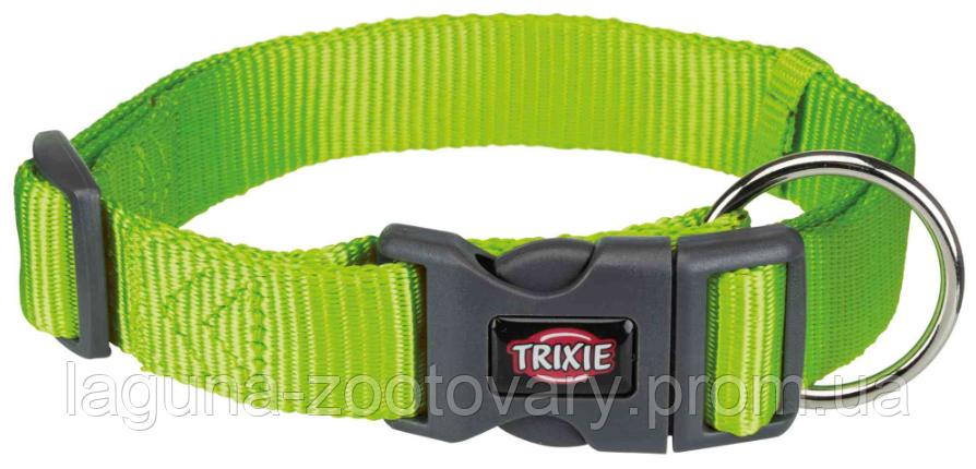 ТХ-201717 Ошейник Premium нейлон, L–XL 40–65см/25мм, ярко-зелёный для собак