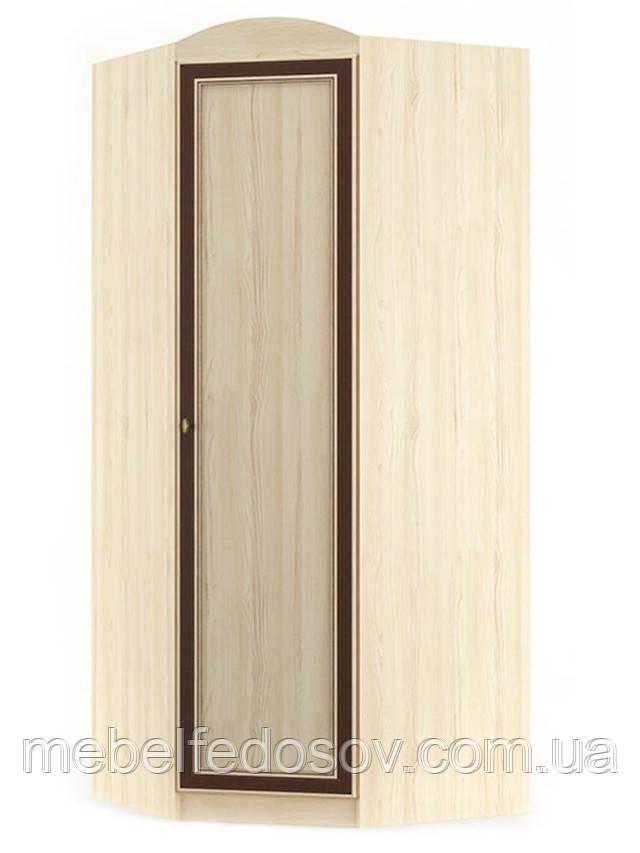 Шкаф угловой 1Д Дисней (Мебель-Сервис)  910/560   х910/560х2180мм дуб светлый