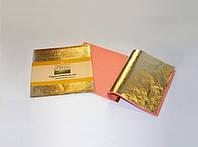 Поталь в листах 14х14см, 25листов,золото,Borma(Италия)