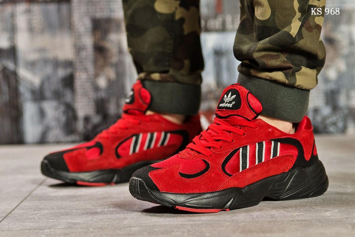Мужские кроссовки Adidas Yung 1 (красные)