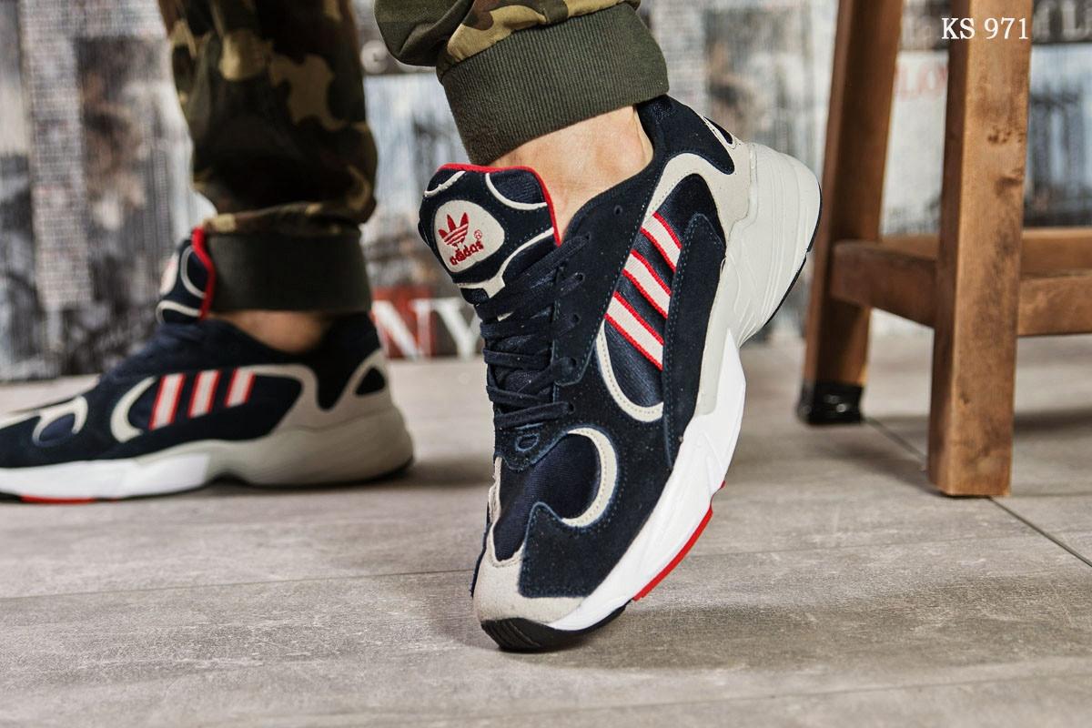 Мужские кроссовки Adidas Yung 1 (сине-серые)