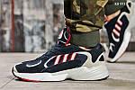 Мужские кроссовки Adidas Yung 1 (сине-серые), фото 6