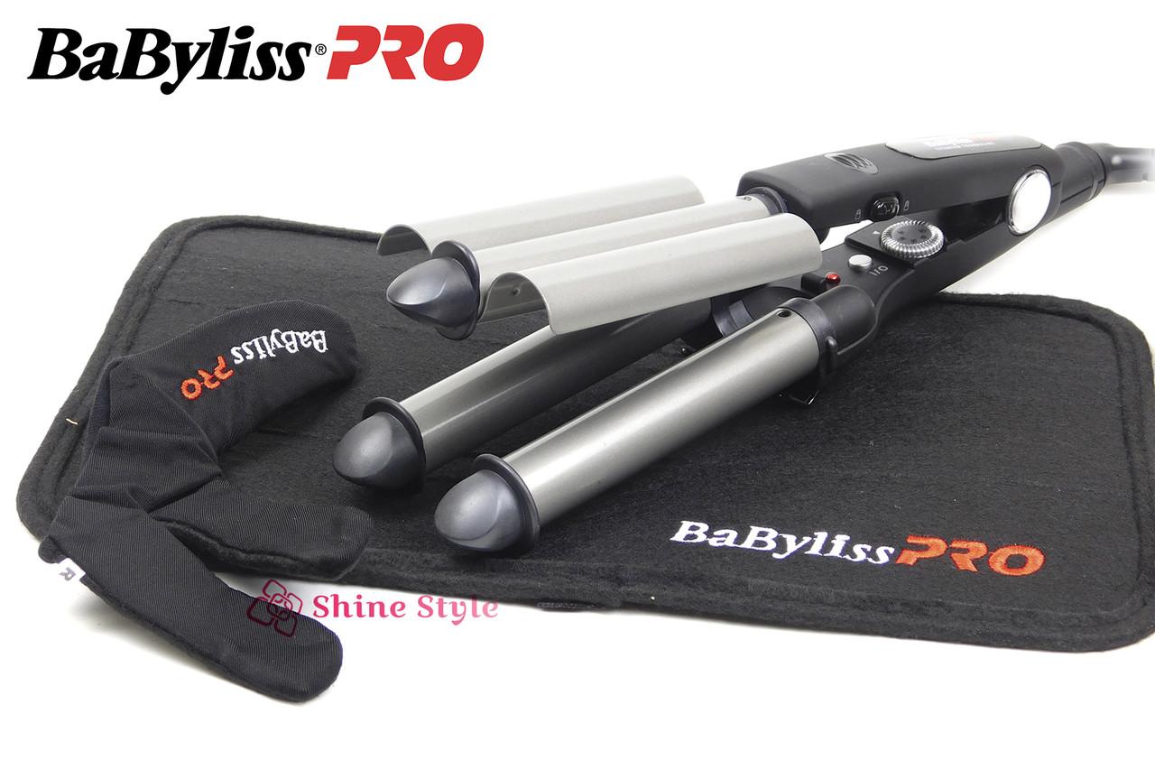 Профессиональная тройная плойка с турмалиновым покрытием BaByliss BAB2269TTE  22/19/22 мм