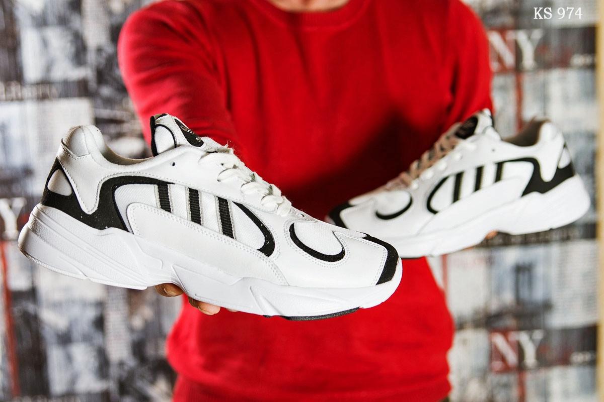 Мужские кроссовки Adidas Yung 1 (белые)