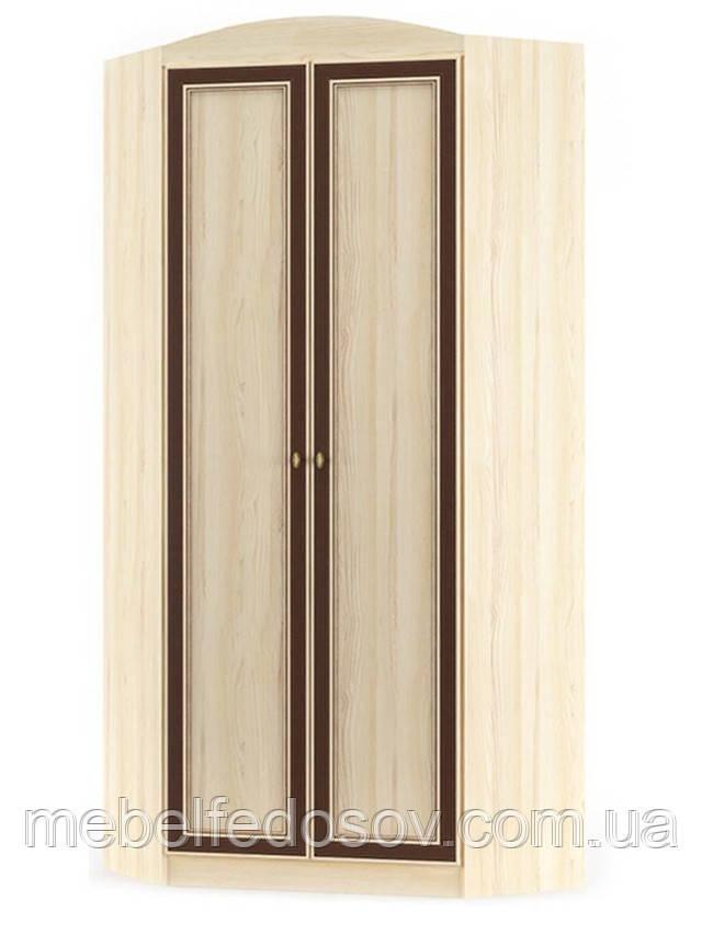 Шкаф угловой 2Д Дисней (Мебель-Сервис)  910/377х910/377х2180мм дуб светлый