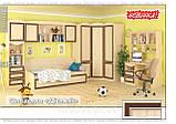 Шкаф угловой 2Д Дисней (Мебель-Сервис)  910/377х910/377х2180мм дуб светлый , фото 3