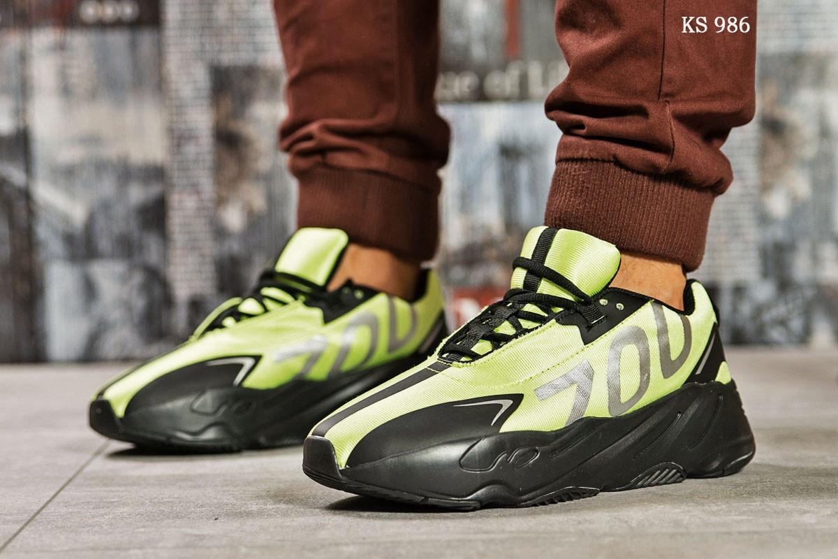 Мужские кроссовки Adidas Yeezy 700 (зеленые)