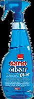 """Моющее для стекол и различных стеклянных поверхностей """"Sano Clear Blue"""" 1 л"""