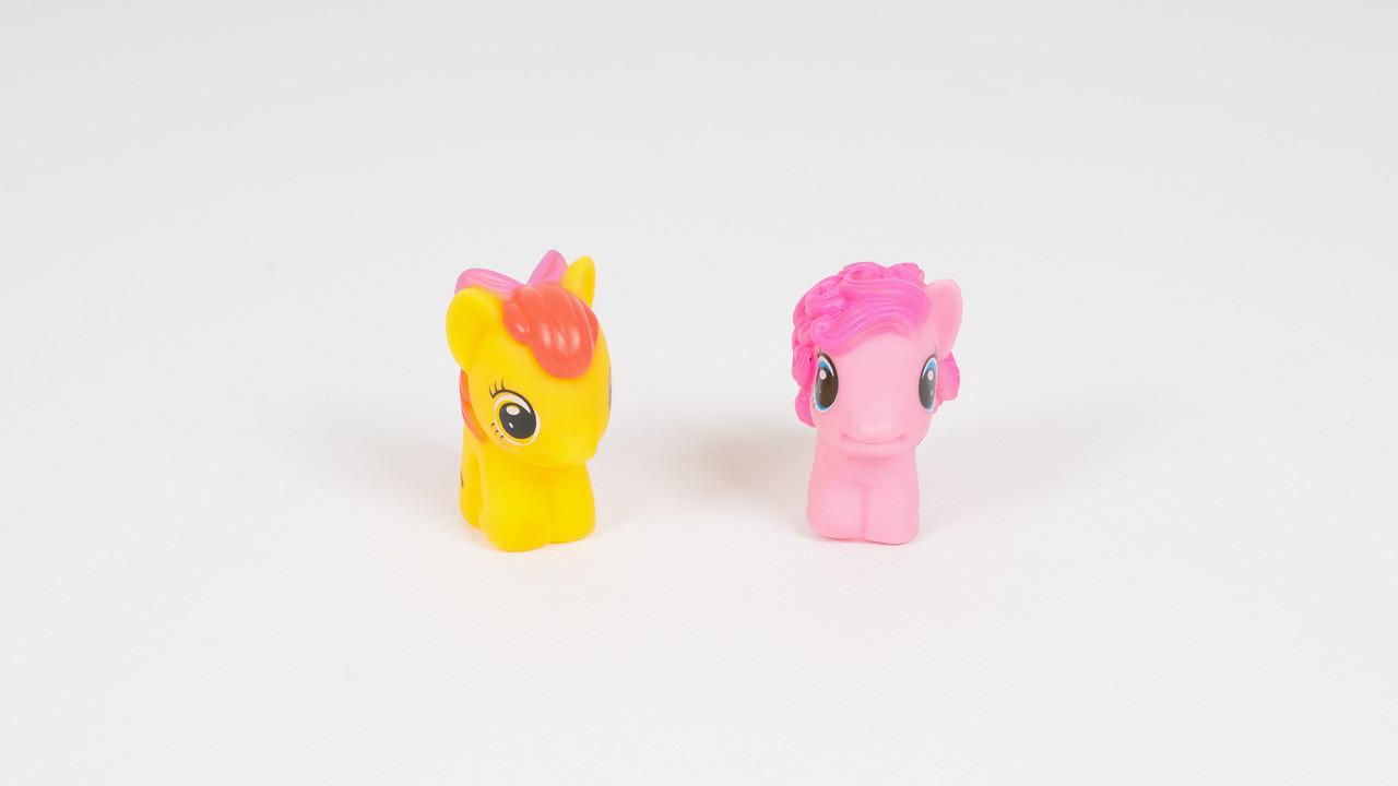 Игрушка-пищалка для купания MY LITTLE PONY (2 лошади). 3 вида