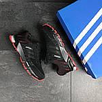 Мужские кроссовки Adidas Marathon (черно-красные), фото 2