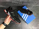 Мужские кроссовки Adidas Marathon (черно-красные), фото 3