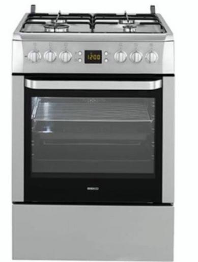 Газовая плита Beko CSM 62320 DX ( 60 см, электрическая духовка,серебристый )