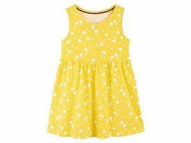 Желтое летнее платье в горошек Lupilu р.110/116