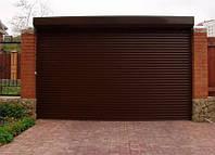 Роллетные ворота Alutech Economy PD/77 коричневые Ш 3000 x В 2000 мм пружинный механизм + ригельный замок