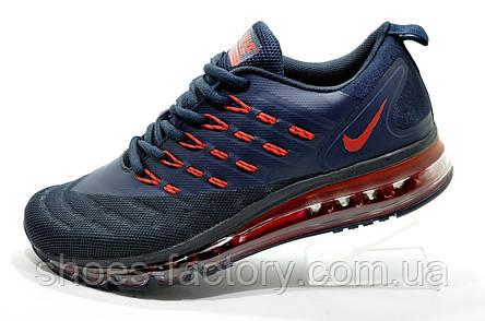 Кроссовки для бега в стиле Nike Air Max 2018 Mens, Dark Blue\Red, фото 2