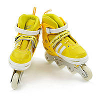 """Роликовые коньки (ролики) Best Rollers 9031 """"S и M"""" желтые"""