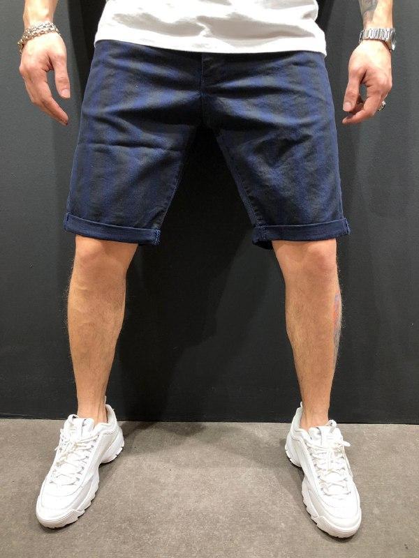 😜Мужские джинсовые шорты синие