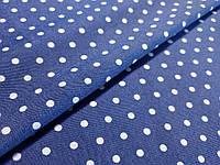 Джинс рубашечный горох 3 мм, голубой