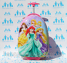 Чемоданы для детей ручная кладь пластик Josepf Ottenn Принцесса 1671 розовый