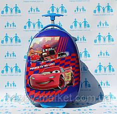 Детские пластиковые овальные чемоданы ручная кладь стандарт Josepf Ottenn Тачка Маквин 0378-5\19-011-3
