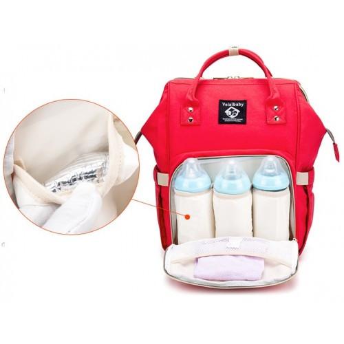 73fbc3448f30 Сумка для мам красная Baby Mo KidsBell сумка-рюкзак для мамы ...