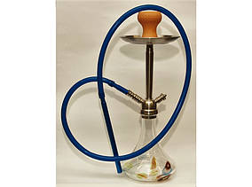 Кальян на 1 трубку Шиша 52 см чаша глина силиконовая трубка с металическими наконечниками