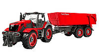 Машинка трактор р/у 1:28 Farm Tractor с прицепом