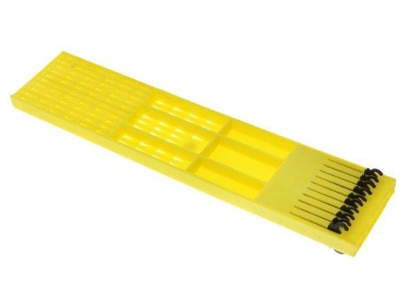 Поводочница двусторонняя желтая 28см