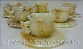 Набор чайный, чашка с блюдцем, 6 шт, оникс, Днепропетровск