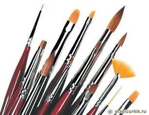 Кисти для рисования и дизайна ногтей