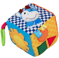 Развивающая игрушка Кубик плюшевый Ферма  Baby Mix