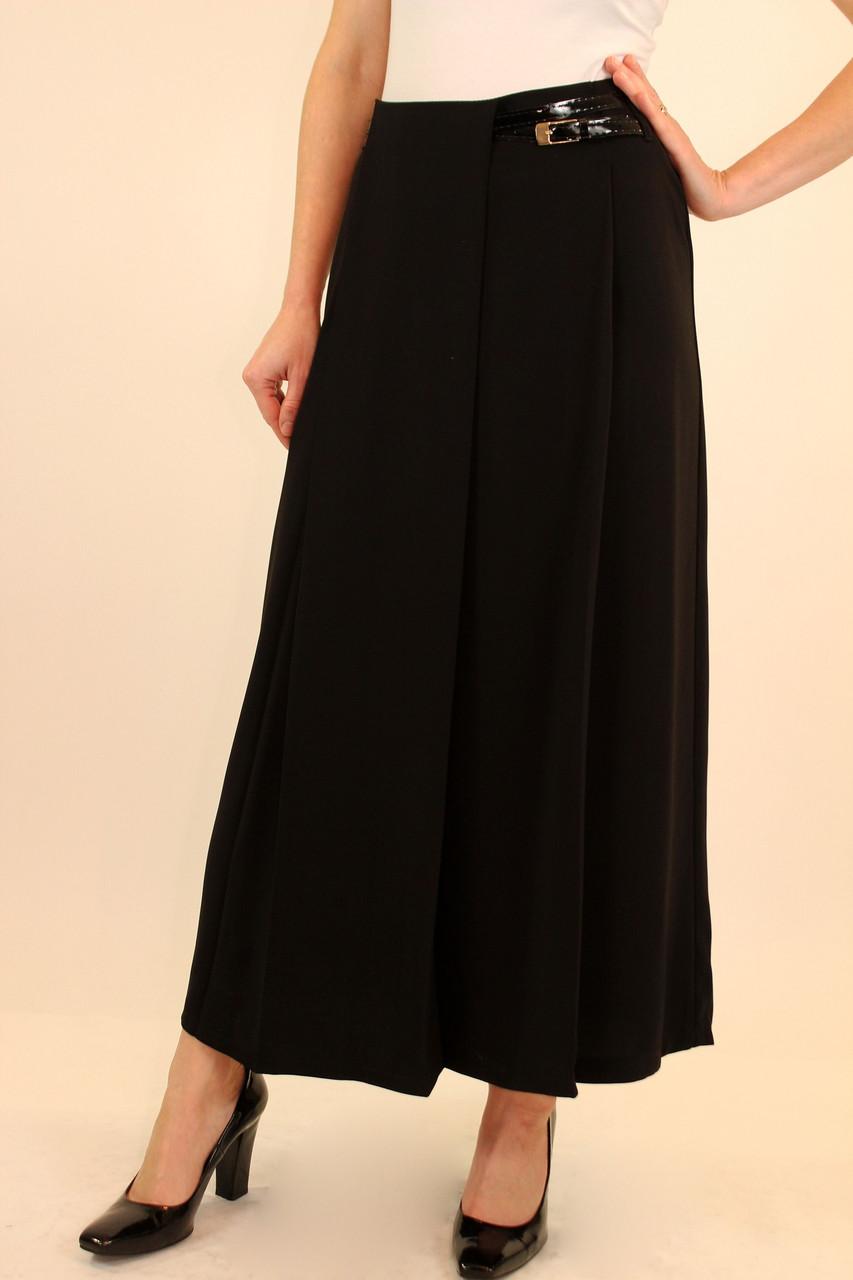 Черная длинная юбка в складку 42-48 р