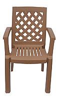 Пластиковое кресло для летника Церцис бежевый